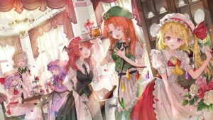 Rating: Questionable Score: 30 Tags: artist_revision flandre_scarlet hong_meiling izayoi_sakuya koakuma maid patchouli_knowledge piyo_(sqn2idm751) remilia_scarlet tagme touhou waitress wings User: Mr_GT