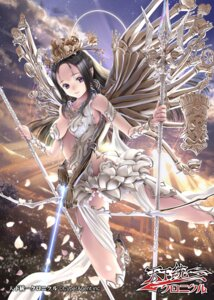 Rating: Questionable Score: 48 Tags: angel bikini_armor cleavage dress heels sumomo_kpa tenka_touitsu_chronicle weapon wings User: blooregardo