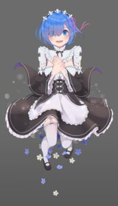 Rating: Safe Score: 32 Tags: maid re_zero_kara_hajimeru_isekai_seikatsu rem_(re_zero) stockings thighhighs usamochi_(7290381) User: charunetra