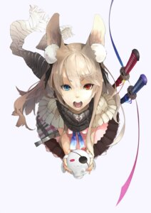 Rating: Safe Score: 75 Tags: animal_ears heterochromia nil sword User: fireattack