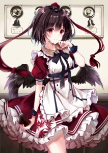 Rating: Safe Score: 38 Tags: dress kisaragi_yuri shameimaru_aya touhou wings User: hiroimo2