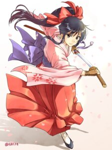 Rating: Safe Score: 35 Tags: caesar_et_cleopatra japanese_clothes sakura_taisen shinguuji_sakura sword User: Mr_GT