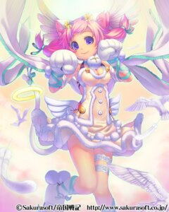 Rating: Safe Score: 25 Tags: animal_ears dress garter nekomimi piro_(artist) tail wings User: blooregardo