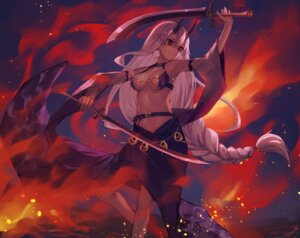 Rating: Questionable Score: 18 Tags: aito bikini_armor fate/grand_order horns see_through sword tomoe_gozen_(fate/grand_order) User: Mr_GT