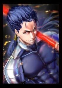 Rating: Safe Score: 5 Tags: armor bodysuit fate/stay_night lancer male weapon zucchini User: mash