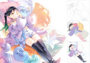 Rating: Safe Score: 41 Tags: ancotaku fixed sentiment_color sketch thighhighs User: fireattack