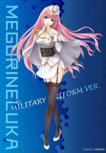 Rating: Safe Score: 42 Tags: cleavage megurine_luka monogo stockings thighhighs uniform vocaloid User: 23yAyuMe
