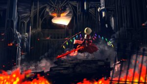Rating: Safe Score: 27 Tags: flandre_scarlet monster ryosios sword touhou wings User: Humanpinka