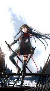 Rating: Safe Score: 35 Tags: heels mikoto_kei sword thighhighs uniform User: Mr_GT