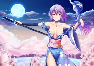 Rating: Questionable Score: 17 Tags: cleavage ein-l-f saigyouji_yuyuko sword touhou User: itsu-chan