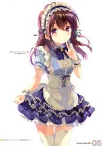 Rating: Safe Score: 84 Tags: gi(a)rlish_number karasuma_chitose_(giarlish_number) maid ohara_tometa qp:flapper thighhighs User: drop
