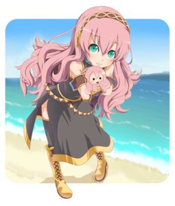 Rating: Safe Score: 9 Tags: megurine_luka thighhighs vocaloid yooguru User: yumichi-sama