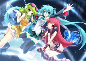 Rating: Safe Score: 35 Tags: gumi hatsune_miku juna miki_(vocaloid) thighhighs vocaloid User: blooregardo