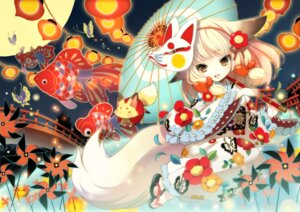 Rating: Safe Score: 65 Tags: animal_ears gin_(oyoyo) kitsune lolita_fashion tail wa_lolita yukata User: ddns001