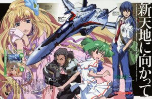 Rating: Safe Score: 9 Tags: ebata_risa macross macross_frontier ozma_lee ranka_lee saotome_alto sheryl_nome vf_valkyrie User: vita
