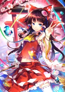 Rating: Safe Score: 40 Tags: hakurei_reimu thighhighs touhou uu_uu_zan User: Mr_GT