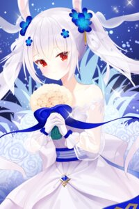 Rating: Safe Score: 17 Tags: animal_ears azur_lane bunny_ears dress laffey_(azur_lane) re-leaf see_through wedding_dress User: Dreista