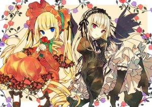 Rating: Safe Score: 46 Tags: gothic_lolita hanabana_tsubomi lolita_fashion rozen_maiden shinku suigintou User: Radioactive