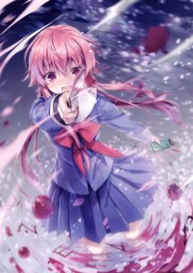 Rating: Questionable Score: 26 Tags: 6u blood gasai_yuno mirai_nikki seifuku weapon User: Radioactive