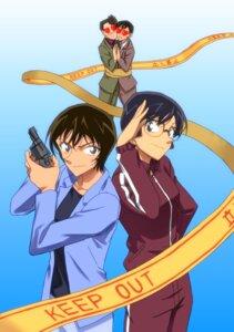 Rating: Safe Score: 4 Tags: detective_conan gun kobayashi_sumiko megane sato_miwako shiratori_ninzaburo takagi_wataru User: charunetra