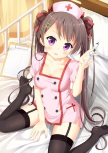 Rating: Questionable Score: 67 Tags: cleavage maccha nurse stockings thighhighs User: Mr_GT