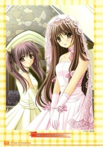 Rating: Safe Score: 10 Tags: dress final_approach nishimata_aoi shizuka_masuda wedding_dress yurika_menou User: Davison