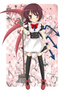 Rating: Safe Score: 6 Tags: emyu houjuu_nue maid thighhighs touhou wings User: charunetra
