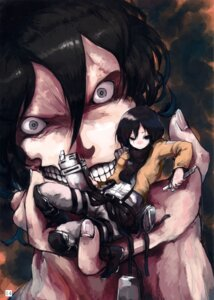 Rating: Safe Score: 10 Tags: eren_jaeger kasa mikasa_ackerman monster pandaniku shingeki_no_kyojin uniform User: Radioactive