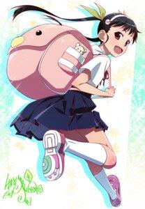 Rating: Safe Score: 23 Tags: bakemonogatari hachikuji_mayoi makicha monogatari_(series) seifuku skirt_lift User: Yhomi