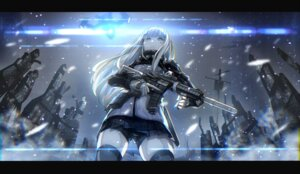 Rating: Questionable Score: 21 Tags: bike_shorts girls_frontline gun hk416_(girls_frontline) inpamas thighhighs uniform User: yanis
