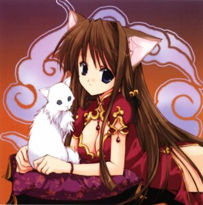 Rating: Safe Score: 22 Tags: animal_ears chinadress cleavage nanase_aoi neko nekomimi User: Velen