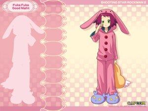 Rating: Safe Score: 3 Tags: animal_ears bunny_ears capcom hibiki_misora ishihara_yuuji nakashima_tokiko pajama rockman ryuusei_no_rockman ryuusei_no_rockman_2 wallpaper User: GDI555