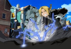 Rating: Safe Score: 9 Tags: alphonse_elric edward_elric fullmetal_alchemist inadome_kazumi riza_hawkeye roy_mustang User: charunetra