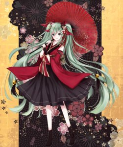 Rating: Safe Score: 40 Tags: hatsune_miku japanese_clothes tsukumo_(an-mar) vocaloid User: animeprincess