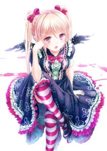 Rating: Safe Score: 132 Tags: alc dress gothic_lolita heels lolita_fashion thighhighs wings User: tbchyu001
