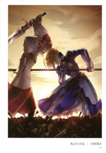 Rating: Safe Score: 31 Tags: armor blood fate/stay_night fate/zero kousaki_rui mordred_(fsn) saber User: YamatoBomber
