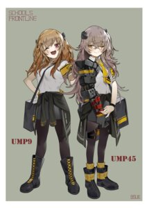 Rating: Safe Score: 10 Tags: bsue girls_frontline mecha_musume pantyhose ump45_(girls_frontline) ump9_(girls_frontline) User: Dreista