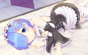 Rating: Safe Score: 102 Tags: cleavage maid nenosame_(nenosame5) re_zero_kara_hajimeru_isekai_seikatsu rem_(re_zero) stockings thighhighs User: Mr_GT