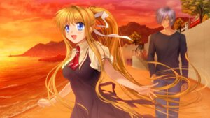 Rating: Safe Score: 10 Tags: air kamio_misuzu kunisaki_yukito moonknives wallpaper User: SubaruSumeragi