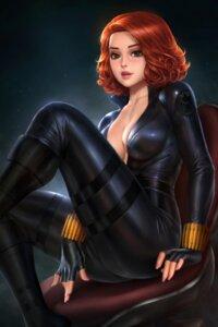 Rating: Questionable Score: 34 Tags: black_widow bodysuit cleavage garter marvel no_bra nudtawut_thongmai open_shirt User: Darkthought75