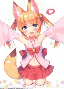 Rating: Safe Score: 31 Tags: 23.4° animal_ears ichiri kitsune miko tagme tail thighhighs User: kiyoe