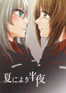 Rating: Safe Score: 5 Tags: girls_und_panzer itsumi_erika kani_aruki nishizumi_miho symmetrical_docking uniform yuri User: Radioactive