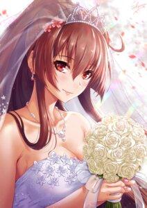 Rating: Safe Score: 42 Tags: cleavage dress kantai_collection sakiyamama wedding_dress yamato_(kancolle) User: BattlequeenYume