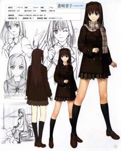 Rating: Safe Score: 17 Tags: aozaki_aoko character_design koyama_hirokazu mahou_tsukai_no_yoru seifuku sketch type-moon User: Fanla