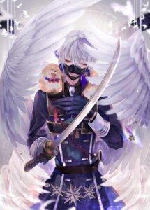 Rating: Safe Score: 10 Tags: male nakigitsune nipponia_nippon sword touken_ranbu uniform wings User: charunetra