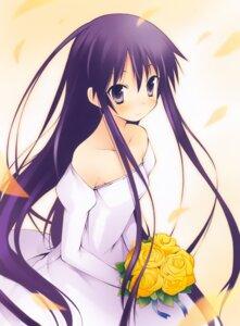 Rating: Safe Score: 24 Tags: akiba_rika dress hanbun_no_tsuki_ga_noboru_sora wedding_dress yamamoto_keiji User: Kalafina