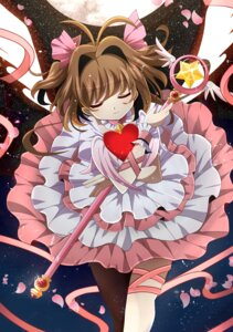 Rating: Safe Score: 32 Tags: card_captor_sakura fumiko_(miruyuana) kinomoto_sakura thighhighs wings User: Anonymous