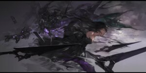 Rating: Safe Score: 15 Tags: dress mecha pixiv_fantasia pixiv_fantasia_revenge_of_the_darkness swd3e2 sword User: RyuZU