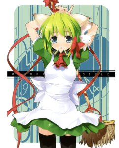 Rating: Safe Score: 34 Tags: 5_nenme_no_houkago animal_ears kantoku maid midori nekomimi thighhighs User: Kalafina