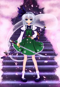 Rating: Safe Score: 9 Tags: cloudy.r konpaku_youmu sword touhou User: GeniusMerielle